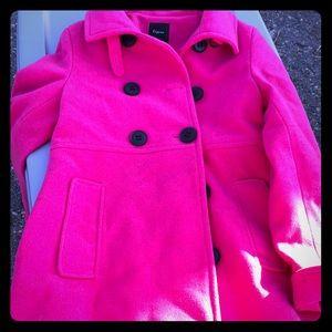 Hot pink express pea coat size xs
